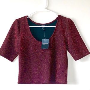 Forever 21 Sparkle Crop Top